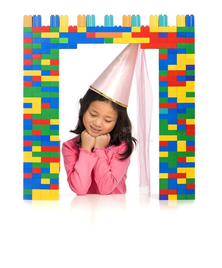 Princesa no indicador imagem de stock
