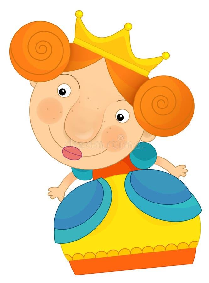 Princesa ou rainha dos desenhos animados ilustração royalty free