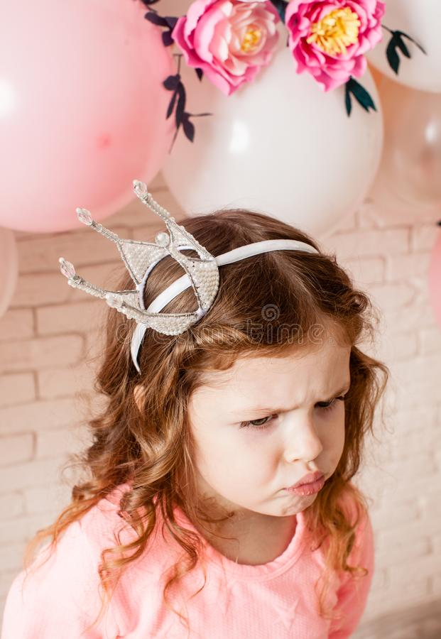 A princesa pequena bonito fotografia de stock royalty free