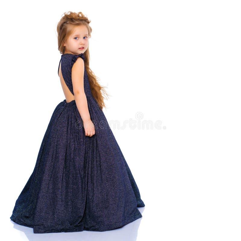 Princesa pequena no vestido branco imagem de stock