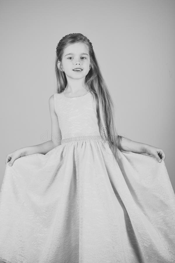 princesa pequena no vestido Menina pequena da princesa imagens de stock