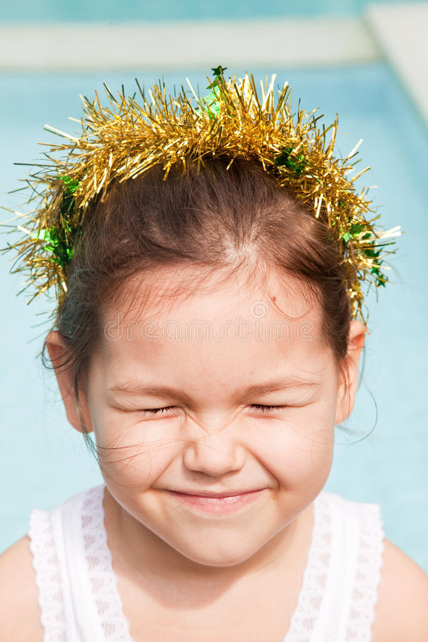 Princesa pequena para o Natal imagens de stock