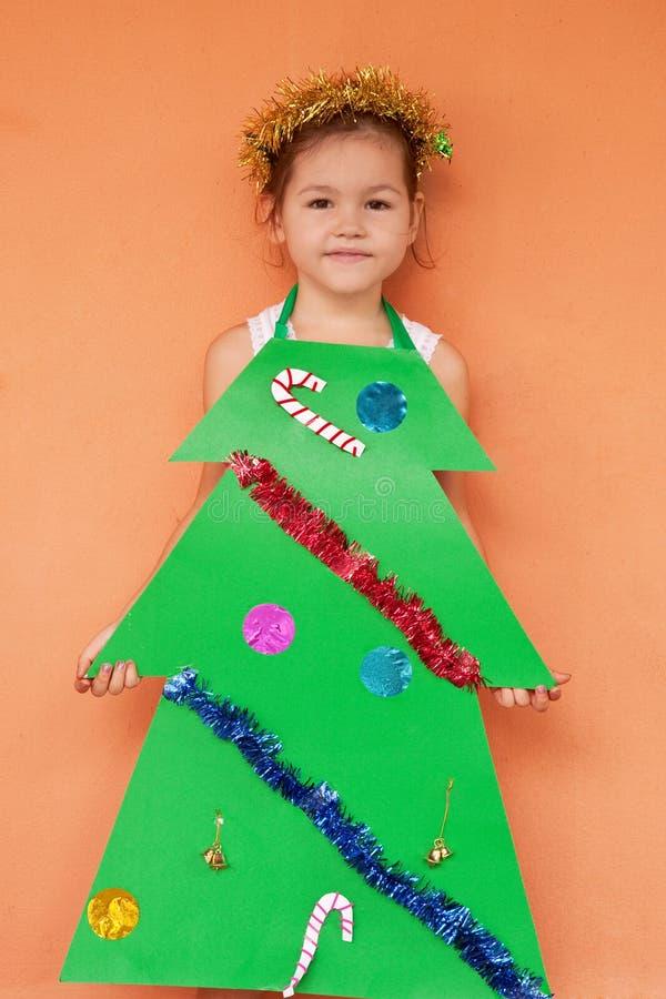 Princesa pequena para o Natal foto de stock