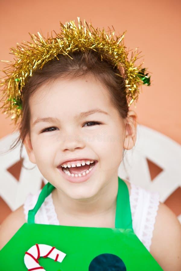 Princesa pequena para o Natal imagem de stock royalty free