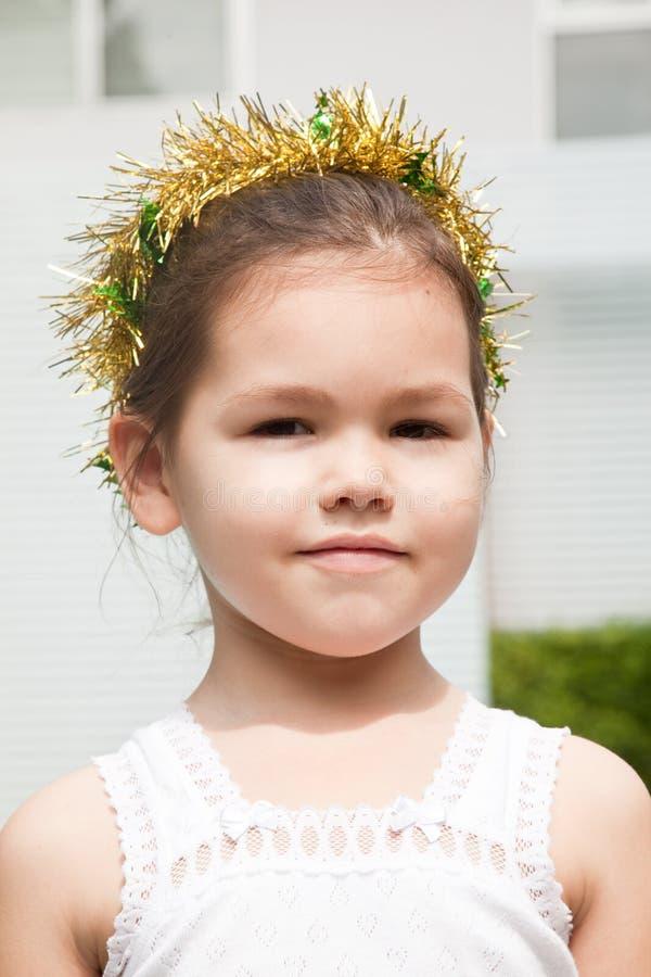 Princesa pequena para o Natal imagem de stock
