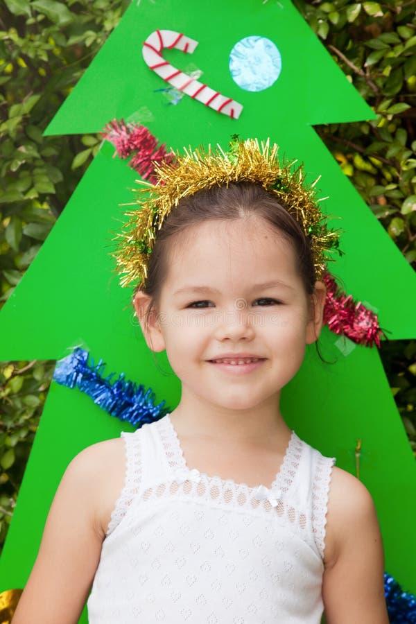 Princesa pequena para o Natal fotos de stock royalty free