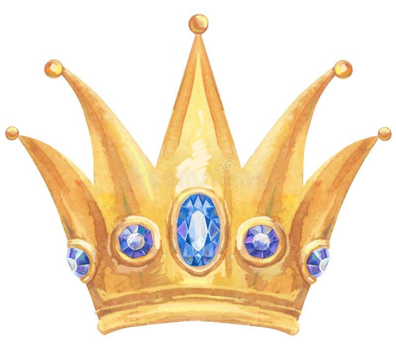 Princesa Real de oro de la acuarela ilustración del vector