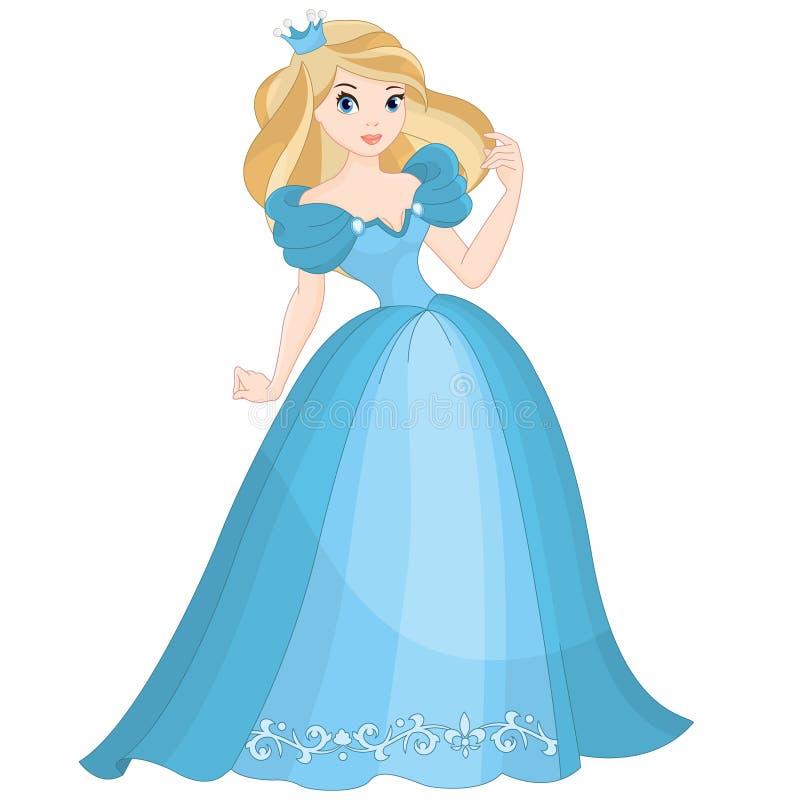 Princesa rubia del cuento de hadas ilustración del vector