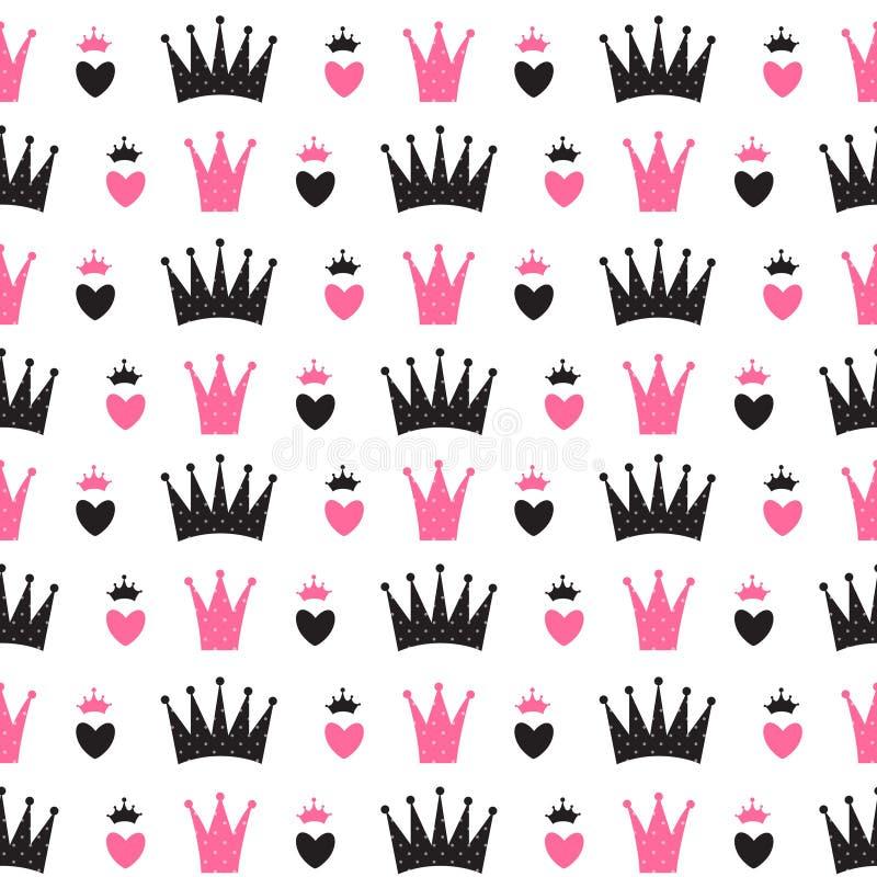 Princesa Seamless Pattern Background ilustração do vetor