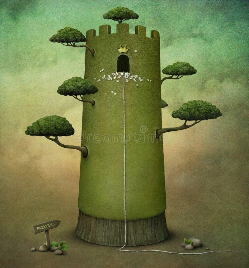Princesa Torre ilustração royalty free