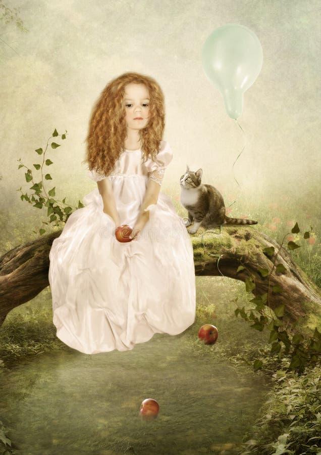 A princesa triste imagens de stock