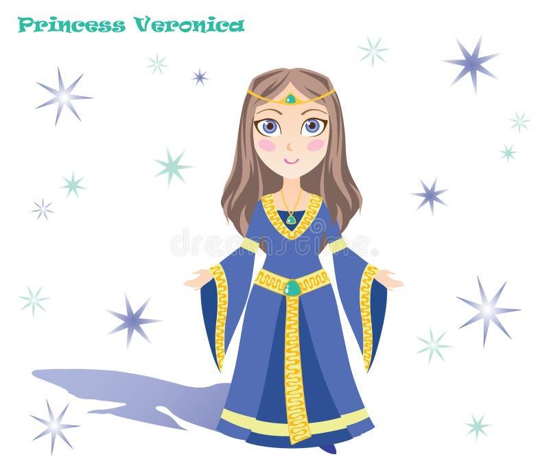 Princesa Veronica con las estrellas y la sombra imagen de archivo libre de regalías