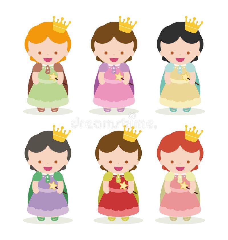 princesas ilustración del vector