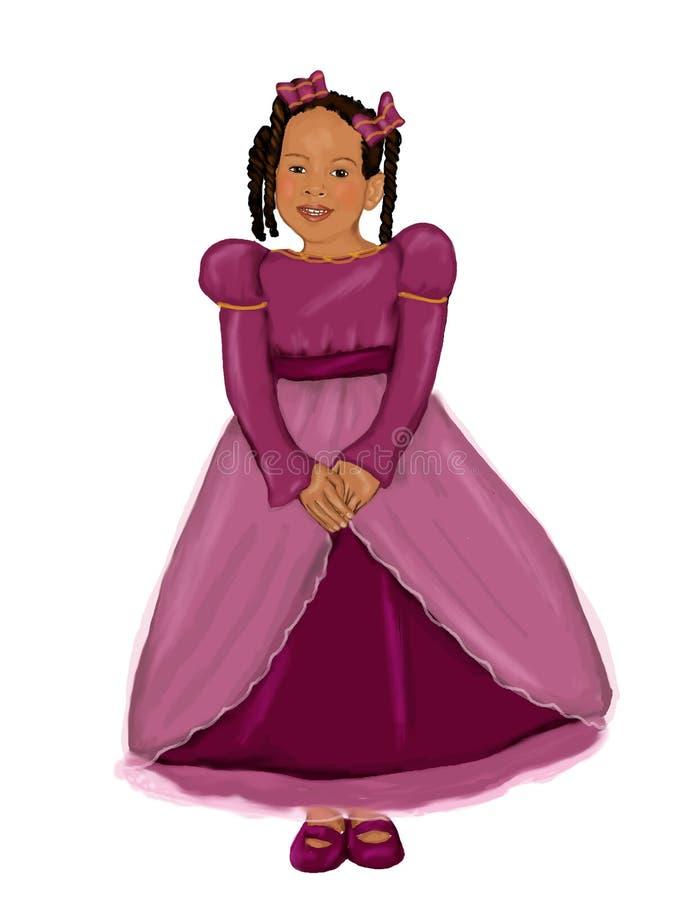 princess афроамериканца иллюстрация вектора