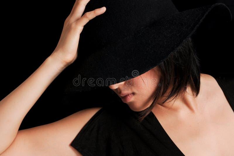 Princess в черноте стоковые изображения rf