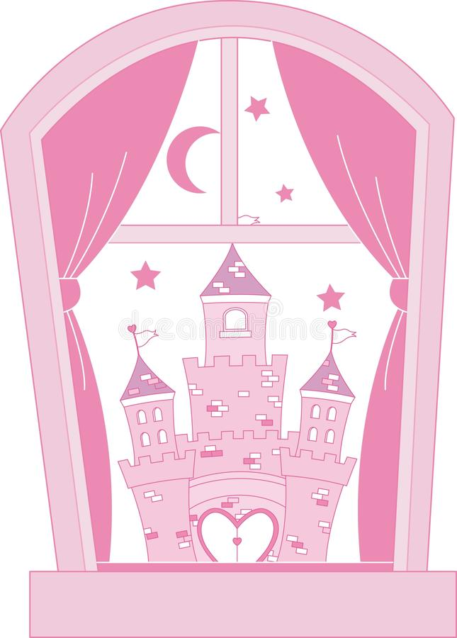 princess замока розовый бесплатная иллюстрация