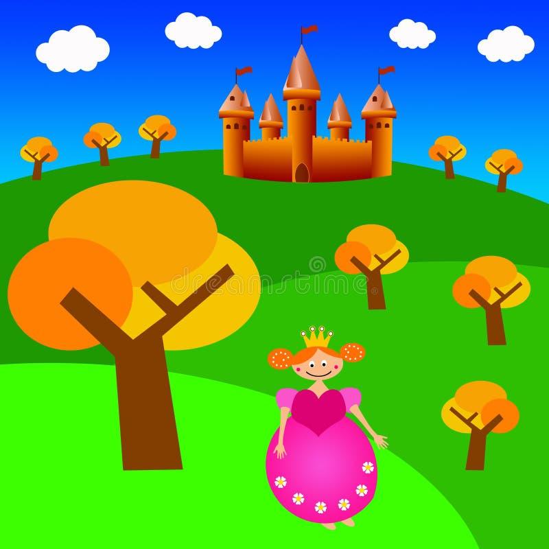 princess замока иллюстрация штока