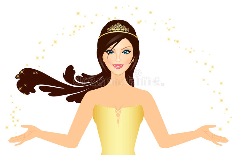 Download Princess stock vector. Image of imperial, clipart, magic - 25913637