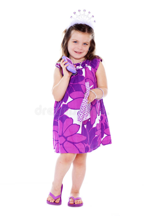 Download Princess stock photo. Image of child, gesture, cellphone - 26688316