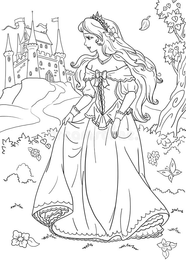 princess stock illustrationer