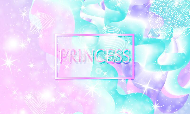 princess background stars pink unicorn pattern mermaid rainbow magic fantasy galaxy fairytale print colors 170740367