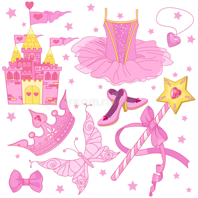 Princess Ballerina Set stock illustration
