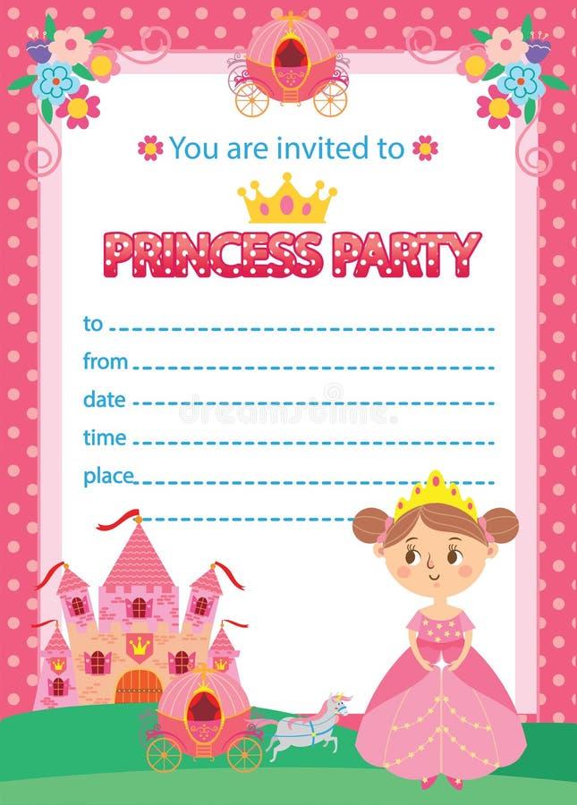 Princess Birthday Party stock vector. Illustration of children ...