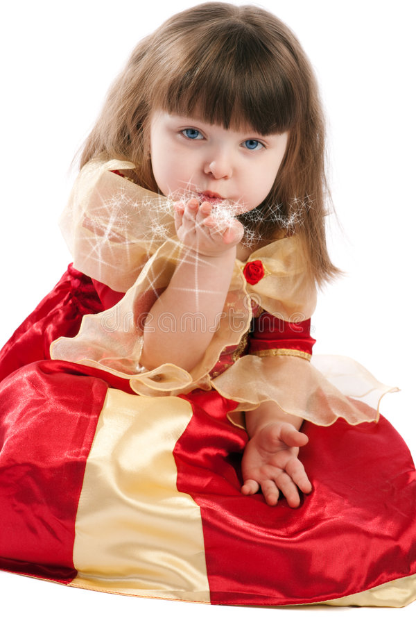 Download Princess blowing stars stock image. Image of pretty, girl - 7487545