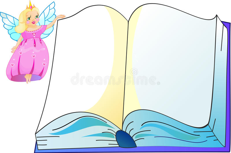 Download The princess with book stock vector. Image of color, isolated - 25108793
