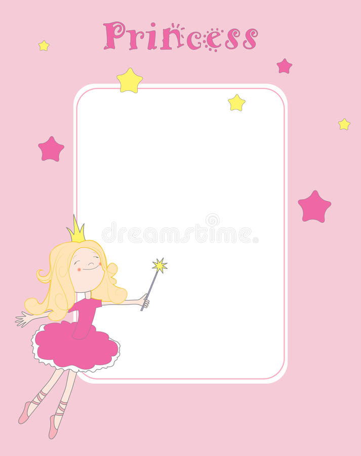 Download Princess card stock vector. Illustration of element, fairy - 14918836