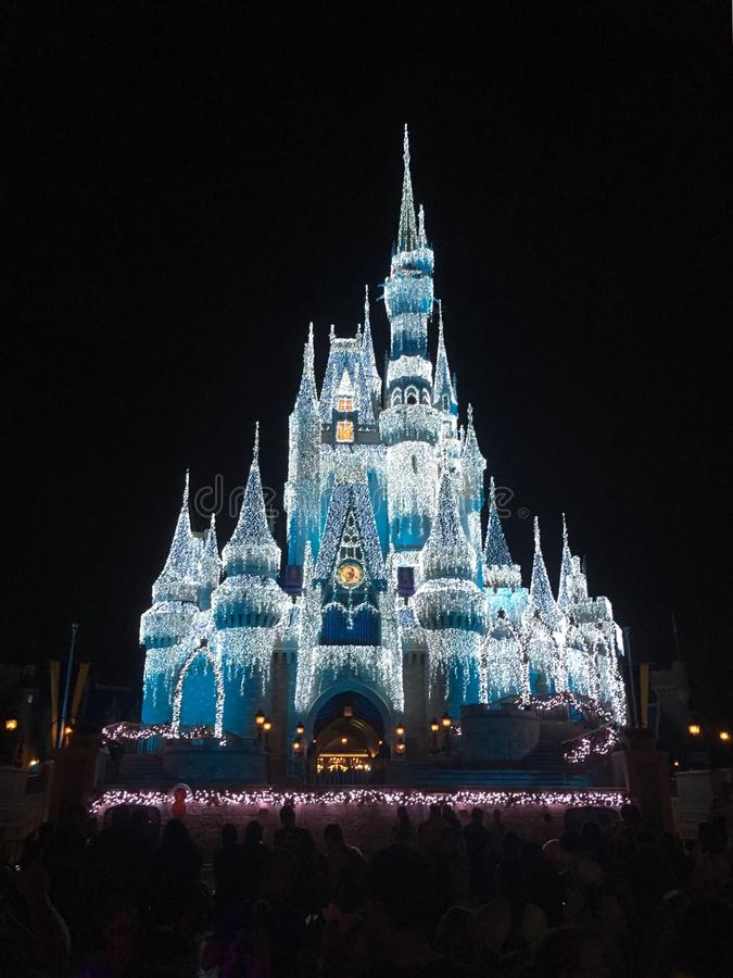 Princess Castle in Disney World Magic Kingdom park, Orlando. Princess Castle in Magic Kingdom theme park, Disney World, Orlando, Florida, USA royalty free stock image