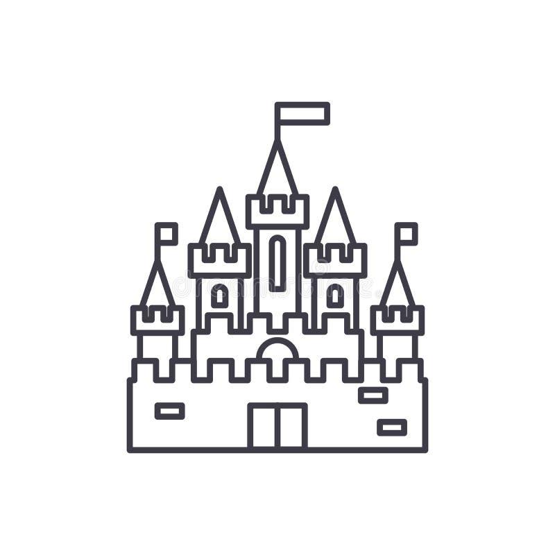 Princess castle line icon concept. Princess castle vector linear illustration, symbol, sign vector illustration