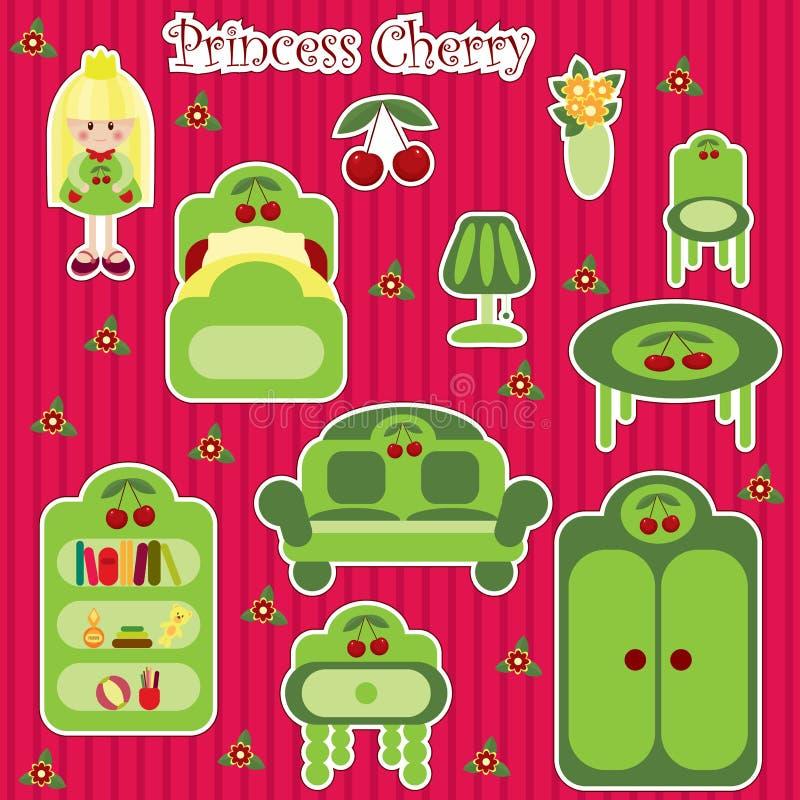 Princess Cherry Furniture Set Royalty Free Stock Photo