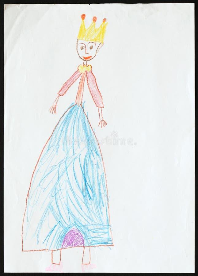 princess Child& x27; s rysunek zdjęcia stock