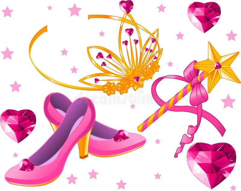 Princess Collectibles stock illustration