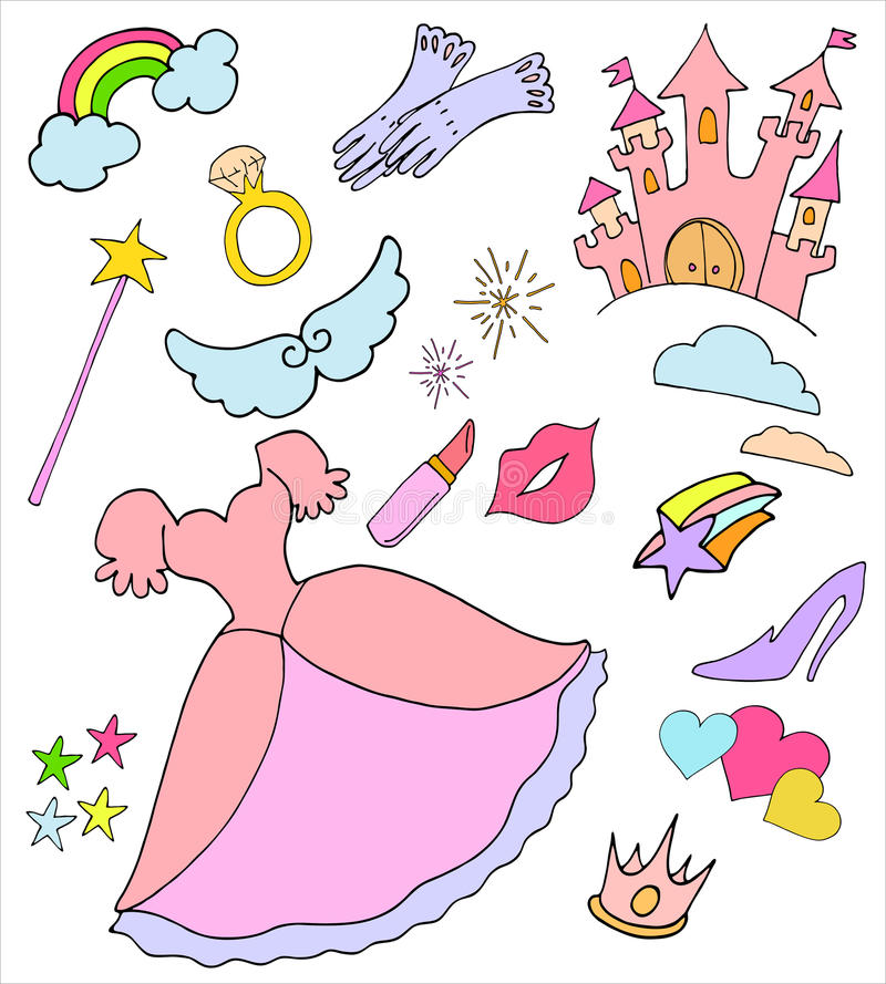 Download Princess collection stock vector. Image of girl, cute - 19207316