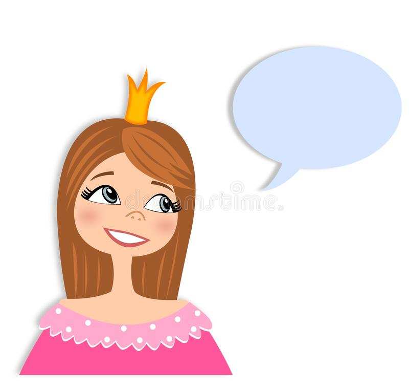 Download Princess In Conversation  Cartoon Character Stock Illustration - Image: 29389248