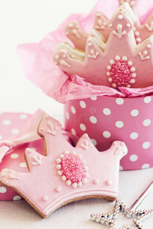 Princess cookies stock photo