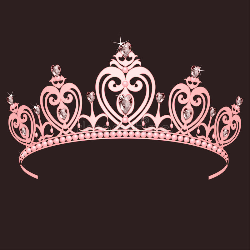Download Princess Crown stock vector. Image of object, pink, diamond - 13734698