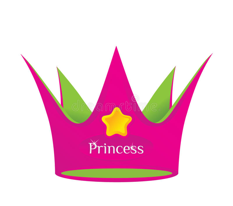 Princess crown. Colored crown of a fairy tale princess vector illustration