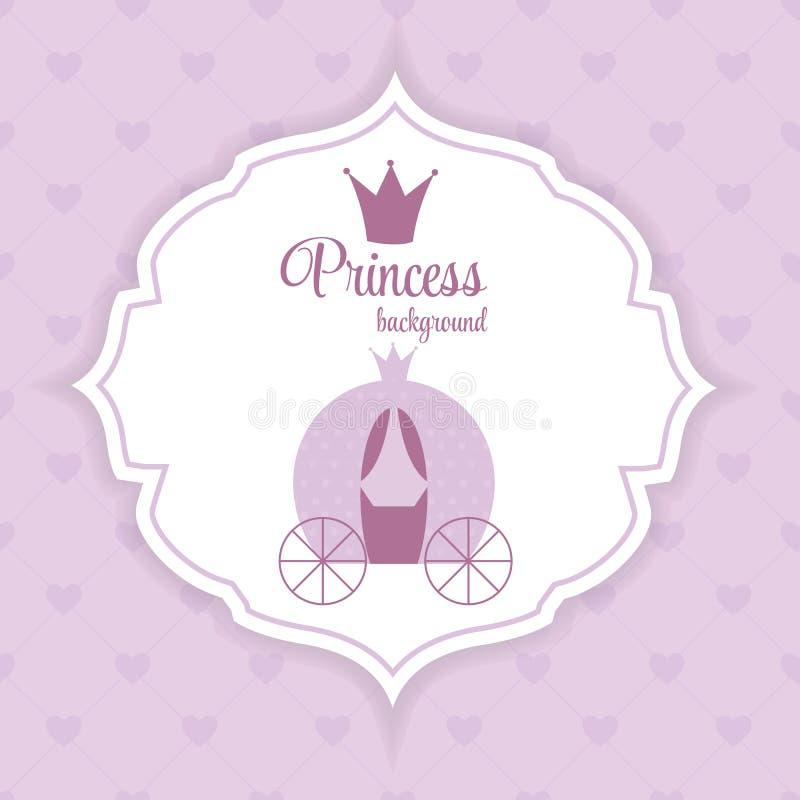 Princess Crown Background Vector Illustration. vector illustration