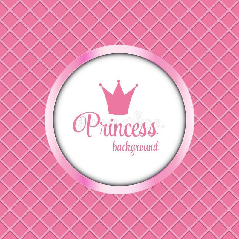 Free Princess Crown Frame Vector Illustration Royalty Free Stock Photos - 60217558