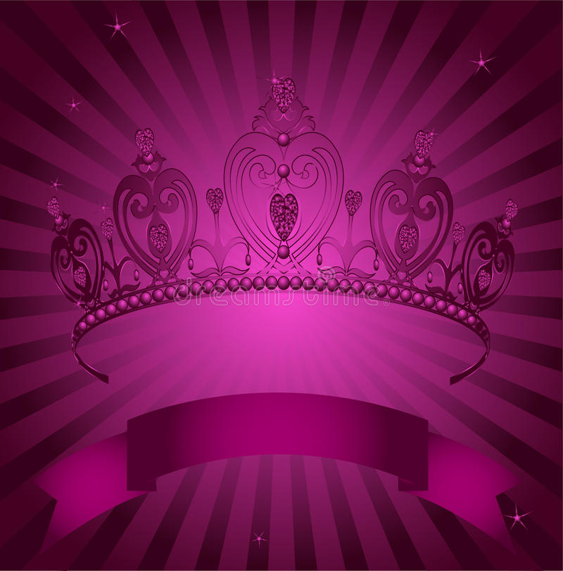 Free Princess Crown On Radial Grange Background Royalty Free Stock Photography - 14127627