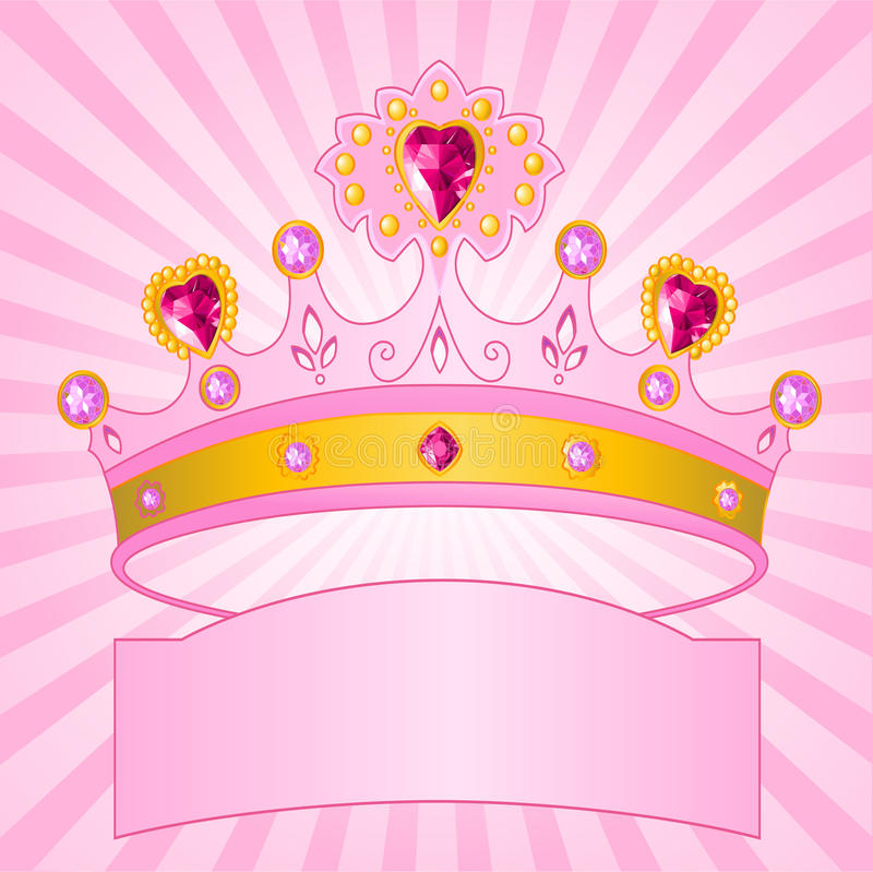 Princess Crown On Radial Background Stock Images - Image