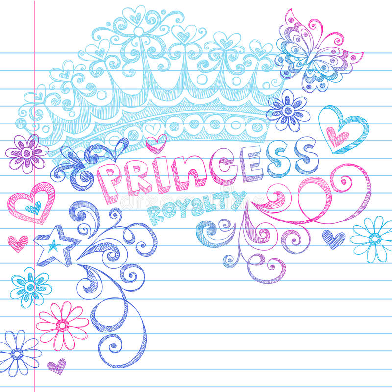 Free Princess Crown Tiara Sketchy Notebook Doodles Stock Photo - 11700360