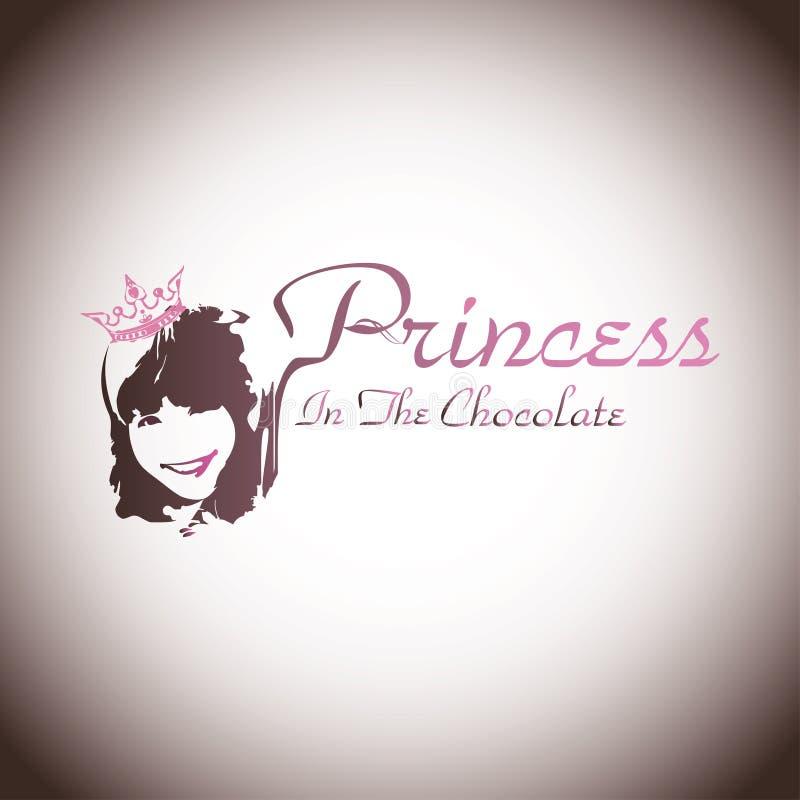 Princess czekolada ilustracja wektor