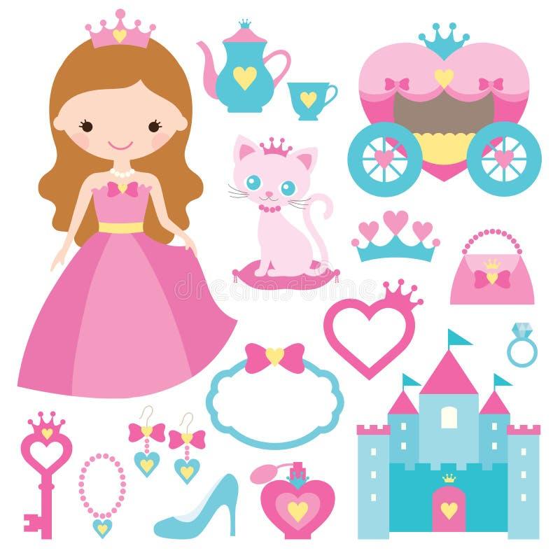 Princess design elements. Illustration of princess design elements vector illustration