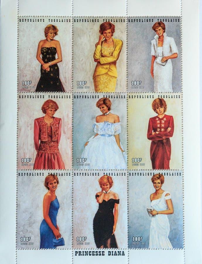 _Princess Diana de timbres-poste images stock