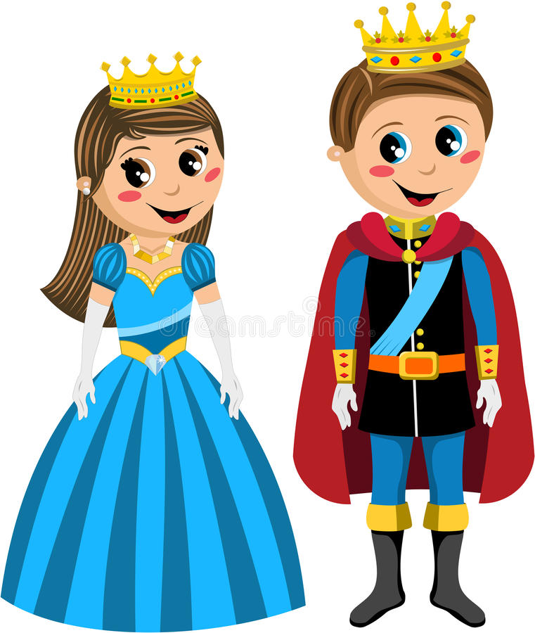 Princess dzieciak książe Odizolowywający dzieciaki royalty ilustracja