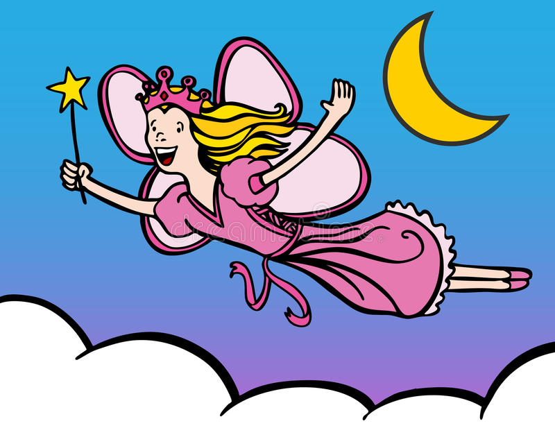 Download Princess Fairy stock vector. Image of magic, drawing - 15159343